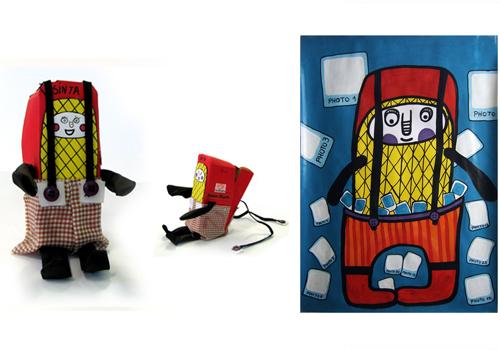 Trabalho da aluna Djéssica Steiner inspirado em uma obra de Joelson Bugila