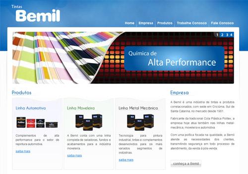 Site Tintas Bemil